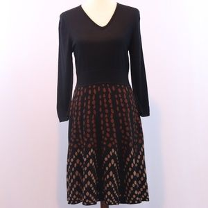 New Directions Polka Dot Print Dress